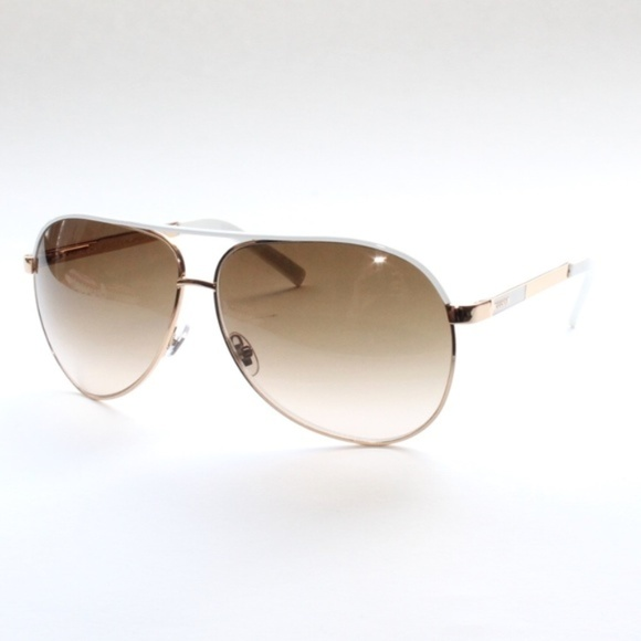 4f6553db2 Gucci Accessories | Gg 1827s Bncis Pilot Aviator Gold White | Poshmark